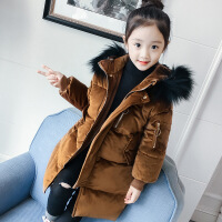 女童中长款棉衣2018新款韩版加厚儿童棉袄中大童时髦洋气潮