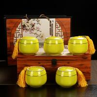 铁观音礼盒装茶叶浓香型陶瓷小罐装