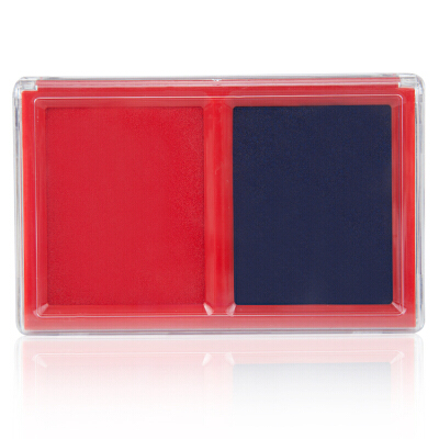 广博(GuangBo)135*85mm双色快干印台印泥盒/办公用品/透明盖款YT9132