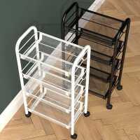 厨房置物架落地多层小推车移动家用多功能蔬菜篮子收纳储物卫生间