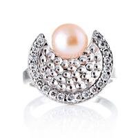 梦克拉s925银镶珍珠戒指 海的女儿