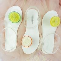 夏天可爱学生平底水果夹脚海边度假潮2018夏季新款韩版沙滩凉鞋女