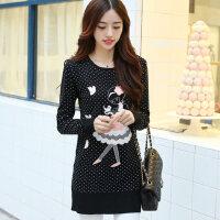 秋冬韩版女装休闲宽松加厚百搭套头针织衫时尚