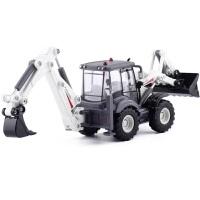 双向结实合金汽车工程车模型玩具铲车挖土机装载车