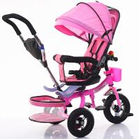 创意新款儿童三轮车折叠自行车宝宝婴儿手推车1--6脚踏童车钛空轮