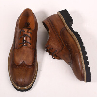 DAZED CONFUSED 男鞋复古潮流英伦雕花皮鞋街头欧美风休闲鞋