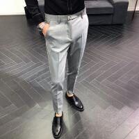 休闲西装裤子修身小脚男士休闲裤绅士小西裤