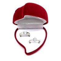 结婚戒指仿真钻戒一对女男士情侣假钻石1克拉活口婚礼对戒