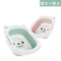 折叠盆婴儿婴儿洗脸盆宝宝2-3个装可折叠洗脚卡通可爱新生儿洗屁屁股小盆子D24