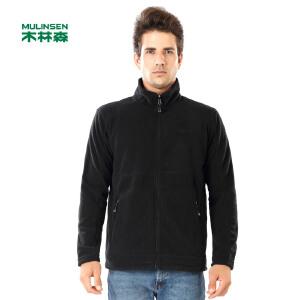 木林森男装 新款保暖衣男开衫加厚摇粒绒卫衣时尚外套01361402