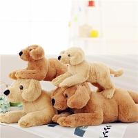 拉布拉多狗狗公仔小狗毛绒玩具狗年玩偶布娃娃抱枕