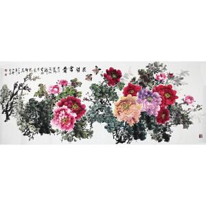 薛发胜 《花开富贵》  179*69cm