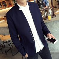 秋装新款英伦休闲呢子夹克男士短款青年韩版潮流修身西服外套外衣