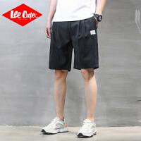 Lee Cooper短裤男夏季舒适男裤子韩版潮流休闲裤直筒宽松系绳松紧腰运动男裤