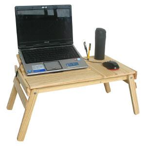 宜哉 木质 床上电脑桌 学生寝室电脑桌 可折叠 笔记本电脑桌ZY1A-1
