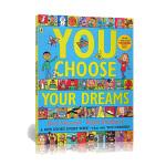 英文原版绘本 You Choose Your Dreams 超凡想象 大开本想象力培养 Nick Sharratt