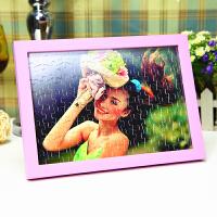 DIY定做定制真人照片拼图送相框创意个性自制作相册情侣生日礼物礼品