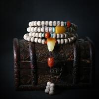 天然星月菩提子108颗手链海南高密正月挂瓷手串男女佛珠项链长款 已挂瓷星月-天然配饰