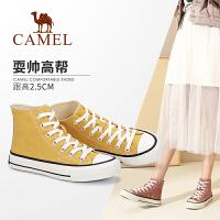 Camel/骆驼2019秋季新款 学院风帆布鞋简约舒适休闲高帮鞋女