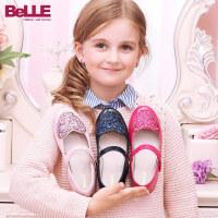 【159元2双】百丽童鞋儿童时装鞋皮鞋女童学生鞋舞蹈鞋方口鞋韩版DE0154