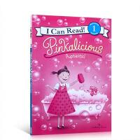 英文原版 Pinkalicious Puptastic粉红控系列I Can Read一阶段汪培�E书单