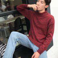 新款男士高领毛衣男修身韩版潮流学生日系复古原宿风外套冬季保暖