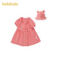 巴拉巴拉宝宝公主裙女童连衣裙夏婴儿裙子洋气韩版2021新款格纹