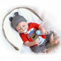 20180530054841537新脸型 全胶仿真 婴儿宝宝 流行 可爱娃娃 如图,送奶瓶奶嘴 57厘米