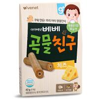 艾唯倪ivenet 贝贝糙米饼宝宝零食杂粮辅食奶酪味夹心磨牙饼干40g