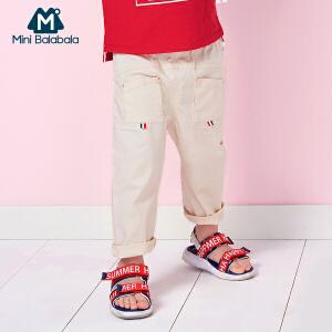 【尾品汇】迷你巴拉巴拉儿童装宝宝休闲裤薄款小童夏装新款男幼童宽松裤子潮