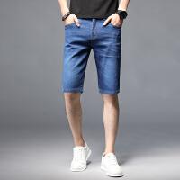 Lee Cooper 男装裤子潮牌薄款直筒马裤休闲百搭五分裤牛仔短裤男