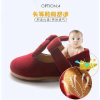 新款休闲婴儿公主小童女宝宝软底学步鞋儿童1一2岁春秋款红色鞋子女童皮鞋
