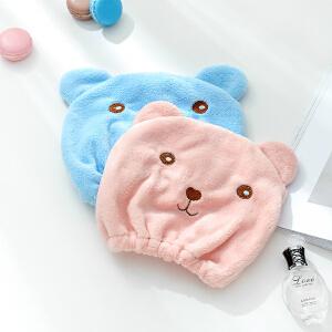 物有物语 浴帽 2018年新款卡通小熊干发帽沐浴速干可爱成人加厚包头巾