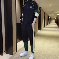 卫衣套装男士韩版潮流帅气春秋新款立领开衫学生休闲运动两件套