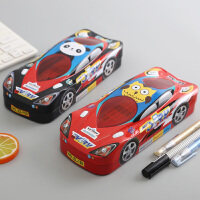 文具盒男小学生幼儿园儿童双层铁盒汽车铁质男孩男童1-3年级创意