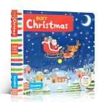 英文原版进口童书 Busy Christmas 繁忙的圣诞节 机关操作活动玩具纸板书 1-5岁儿童英语趣味阅读亲子学前