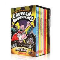 英文原版绘本书 The Gigantic Collection of Captain Underpants 内裤超人12册盒装