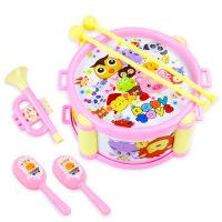 儿童益智手抓摇铃响铃宝宝0-1岁女孩婴儿小孩手拍鼓男孩玩具套装