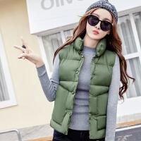 羽绒棉马甲女士冬季新款短款韩版潮宽松学生加厚棉衣面包马夹外套