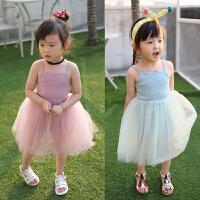 女童吊带连衣裙夏季新款童装儿童无袖背心裙蓬蓬纱裙