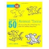 【预订】Draw 50 Animal 'Toons: The Step-By-Step Way to Draw Y978