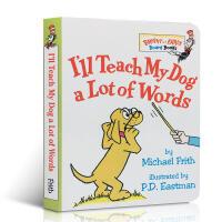 英文原版绘本 I'll Teach My Dog a Lot of Words 我会教我的小狗很多单词 启蒙纸板书撕不
