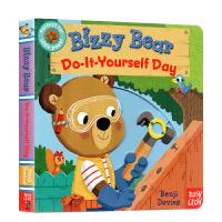 【全店300减100】英文原版绘本 Bizzy Bear Do It Yourself Day 小熊很忙系列 儿童纸板活