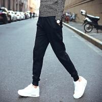 小码男士运动裤学生青少年林弯弯S号XS码束脚哈伦纯色秋装160长裤