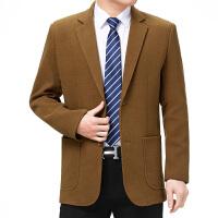 19春秋装中年男士商务休闲西装中老年男两扣单西外套爸爸西服纯色