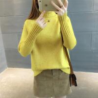 高领白色毛衣加厚女冬韩版宽松套头学生长袖时尚女士针织打底衫潮 均码