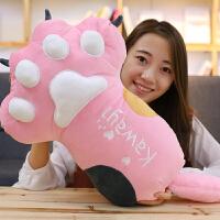 可爱小猫咪布娃娃公仔毛绒玩具睡觉长条抱枕女孩玩偶抱枕毯子两用