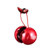 ME01#小恶魔耳机重低音魔音运动手机入耳式通用3.5mm 男生线控音乐耳机 实用礼物 红色(线控版) 官方标配