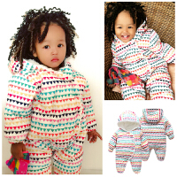 刚出生婴儿衣服新生儿秋冬装0-3个月宝宝连体衣冬棉加厚婴儿外穿6