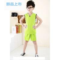 夏儿童休闲篮球服男女童运动背心学生透气速干背心套装